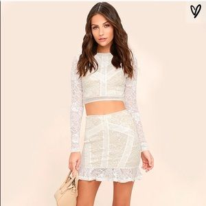 NWOT Verena White Two Piece Lace Dress